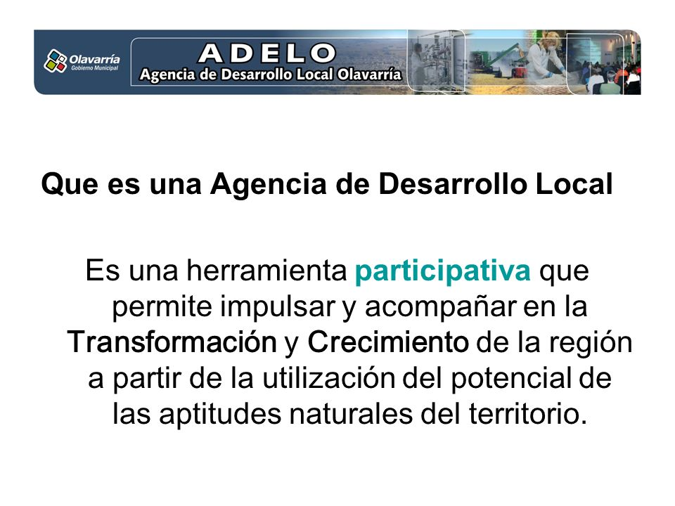 Que es una Agencia de Desarrollo Local