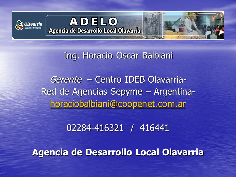 Agencia de Desarrollo Local Olavarria