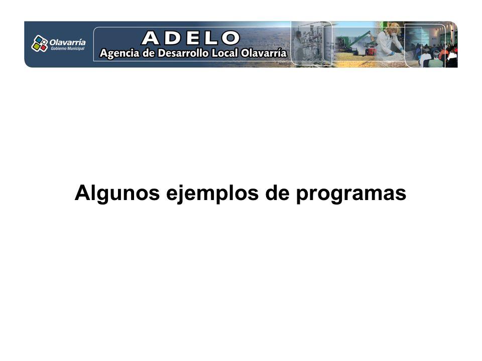 Algunos ejemplos de programas