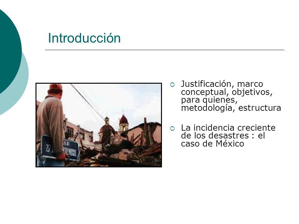 Introducción Justificación, marco conceptual, objetivos, para quienes, metodología, estructura.
