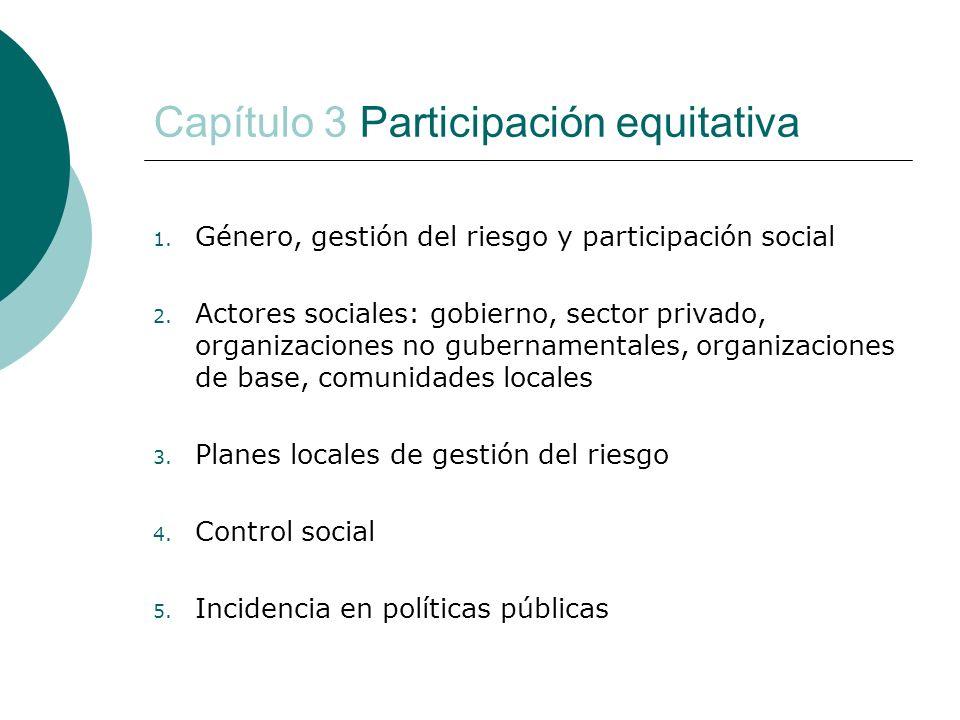 Capítulo 3 Participación equitativa