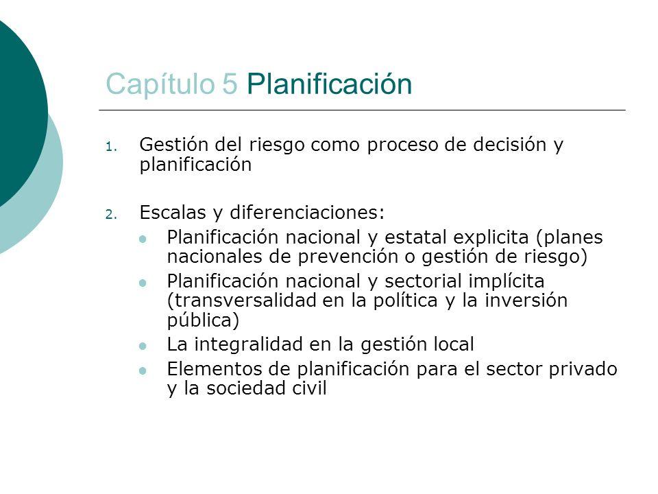 Capítulo 5 Planificación