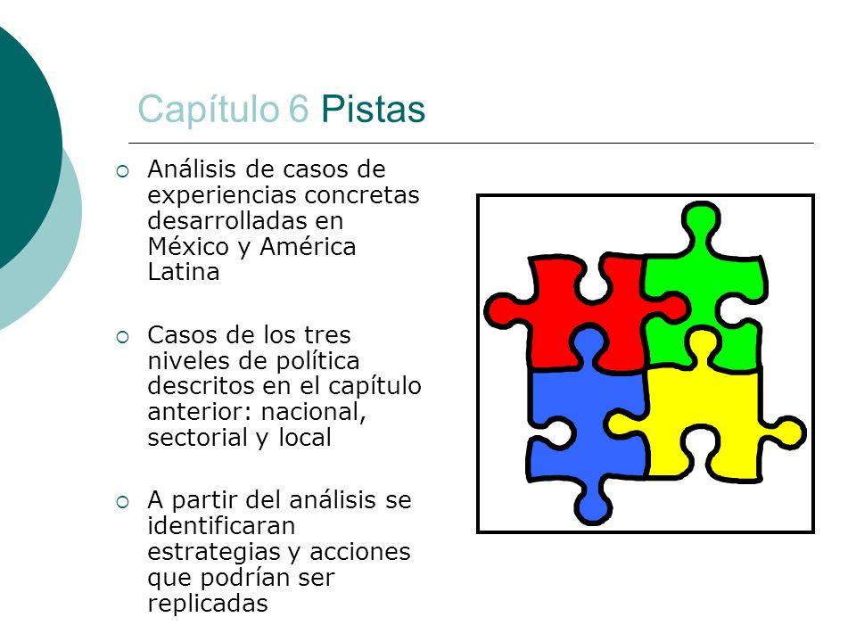 Capítulo 6 Pistas Análisis de casos de experiencias concretas desarrolladas en México y América Latina.