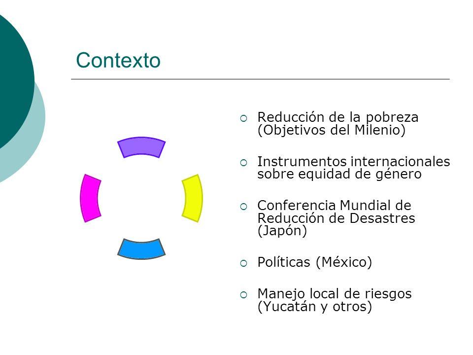 Contexto Reducción de la pobreza (Objetivos del Milenio)