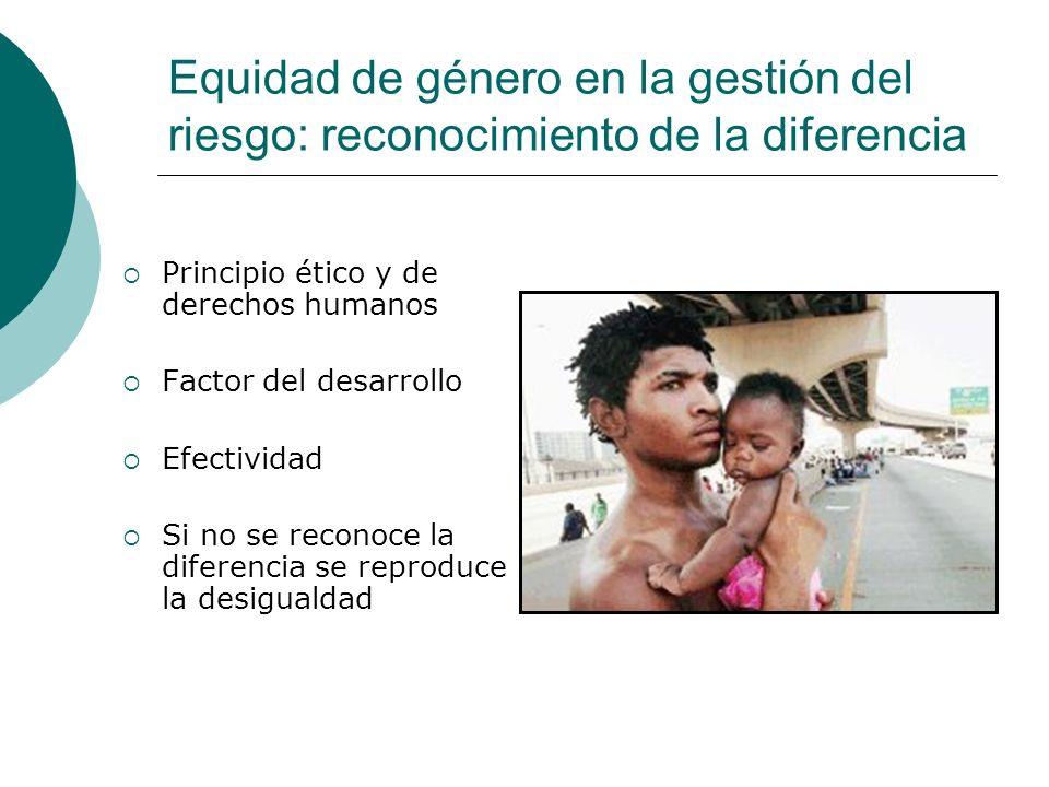 Equidad de género en la gestión del riesgo: reconocimiento de la diferencia
