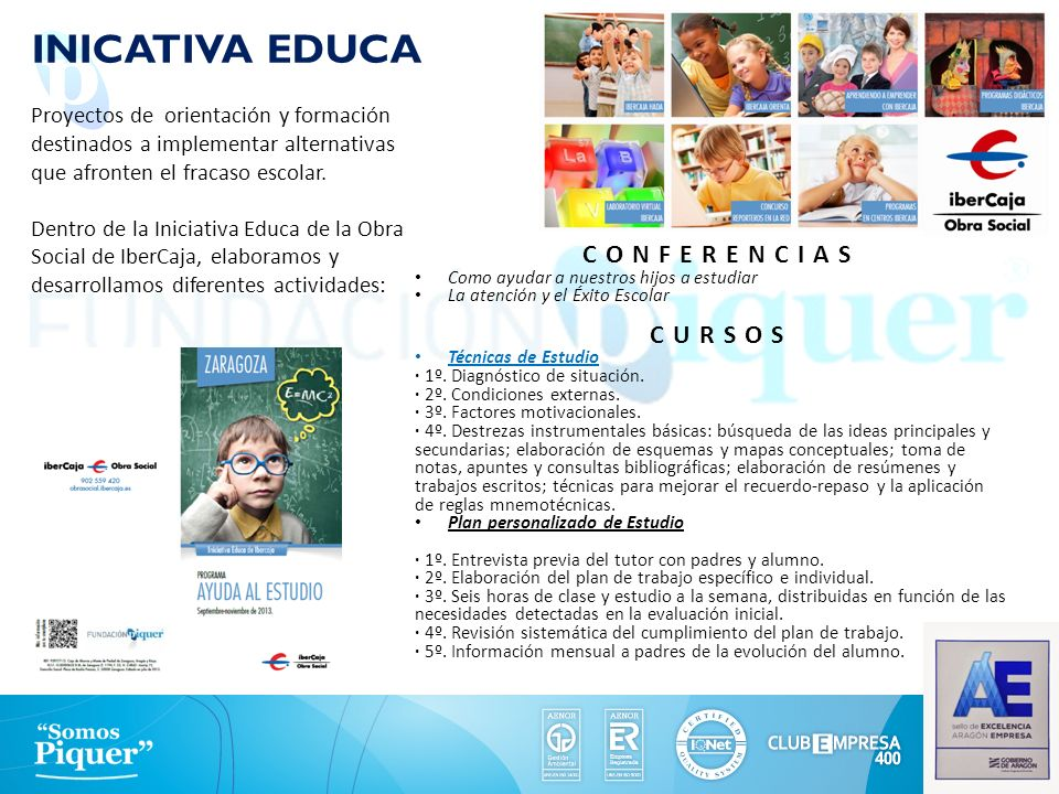 INICATIVA EDUCA CONFERENCIAS CURSOS FUNDACIÓN PIQUER