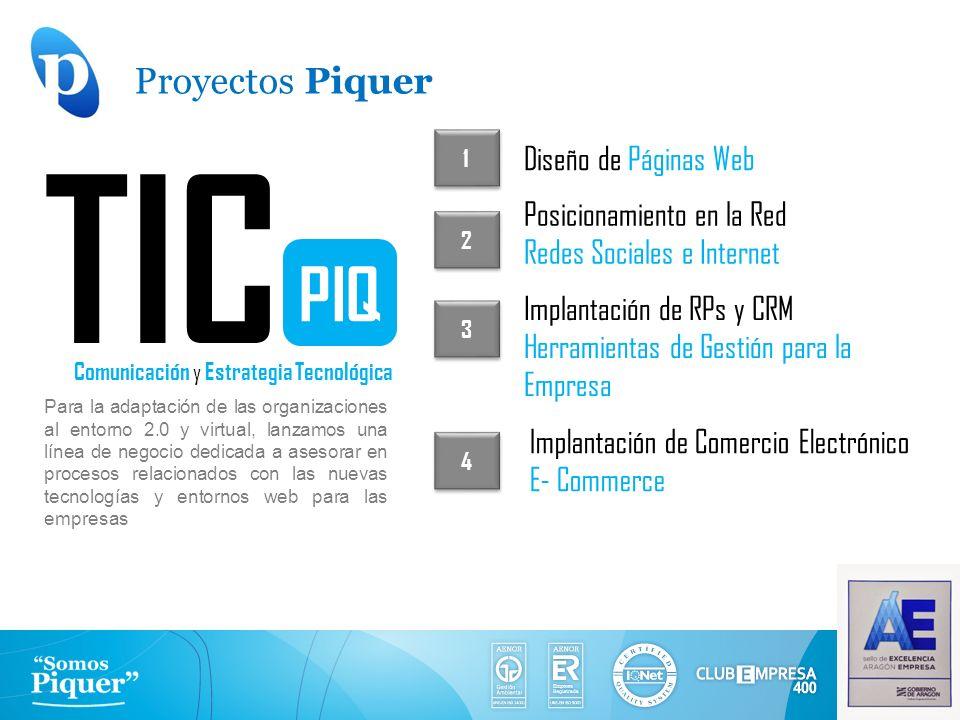 TIC PIQ Proyectos Piquer Diseño de Páginas Web