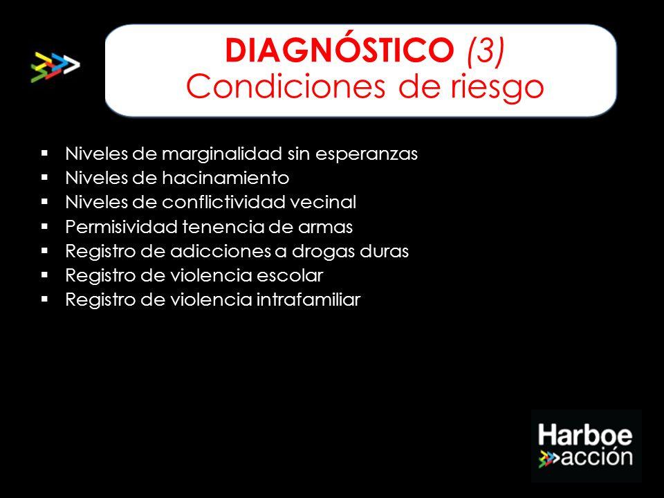 DIAGNÓSTICO (3) Condiciones de riesgo