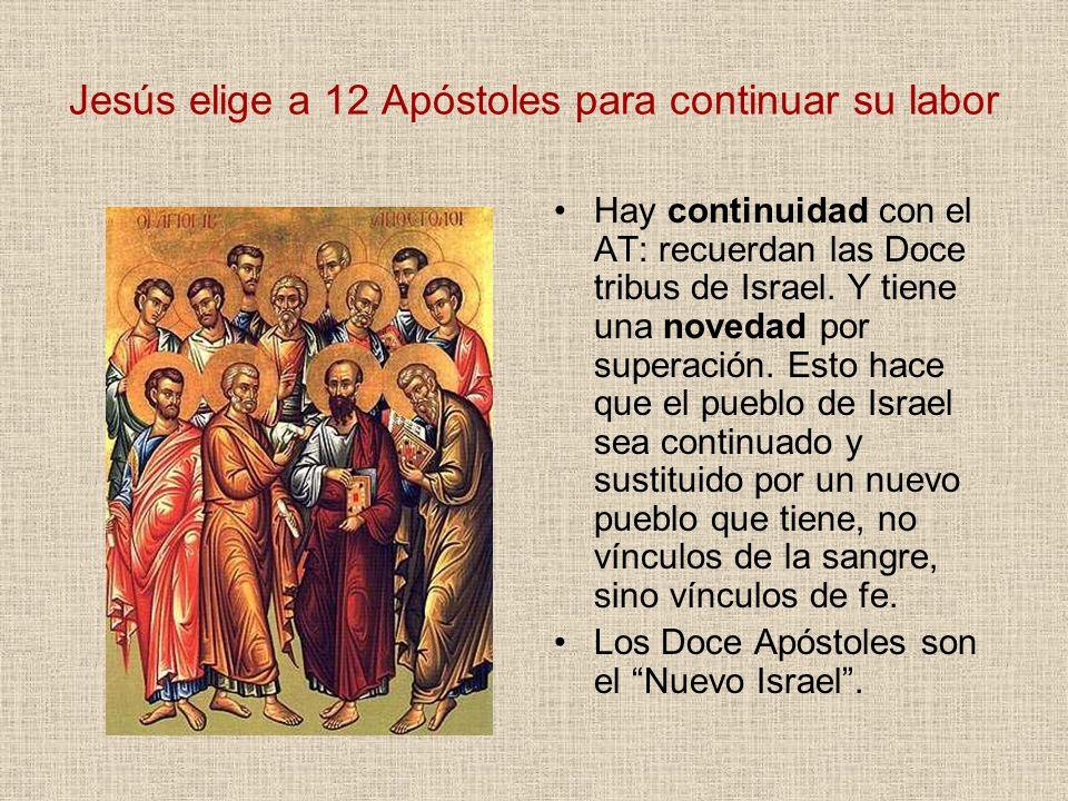 Jesús elige a 12 Apóstoles para continuar su labor