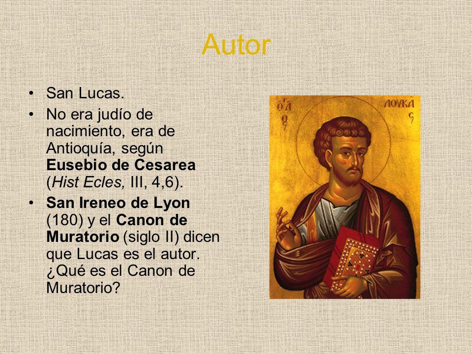 Autor San Lucas. No era judío de nacimiento, era de Antioquía, según Eusebio de Cesarea (Hist Ecles, III, 4,6).