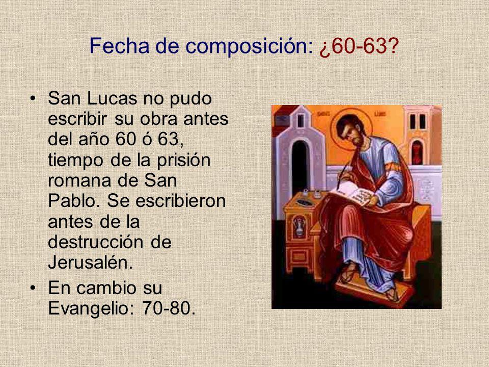 Fecha de composición: ¿60-63