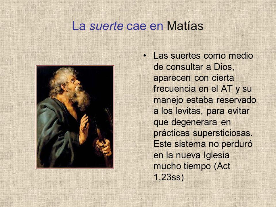 La suerte cae en Matías