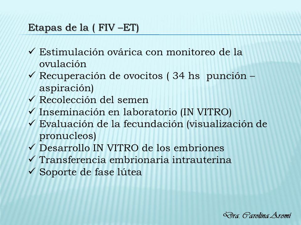 Estimulación ovárica con monitoreo de la ovulación