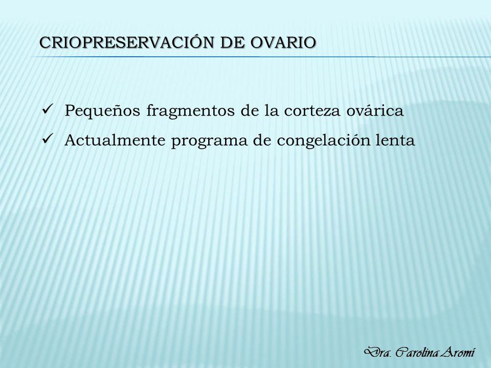 Criopreservación de ovario