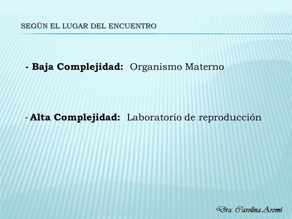 - Baja Complejidad: Organismo Materno