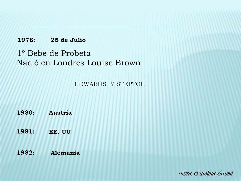 Nació en Londres Louise Brown