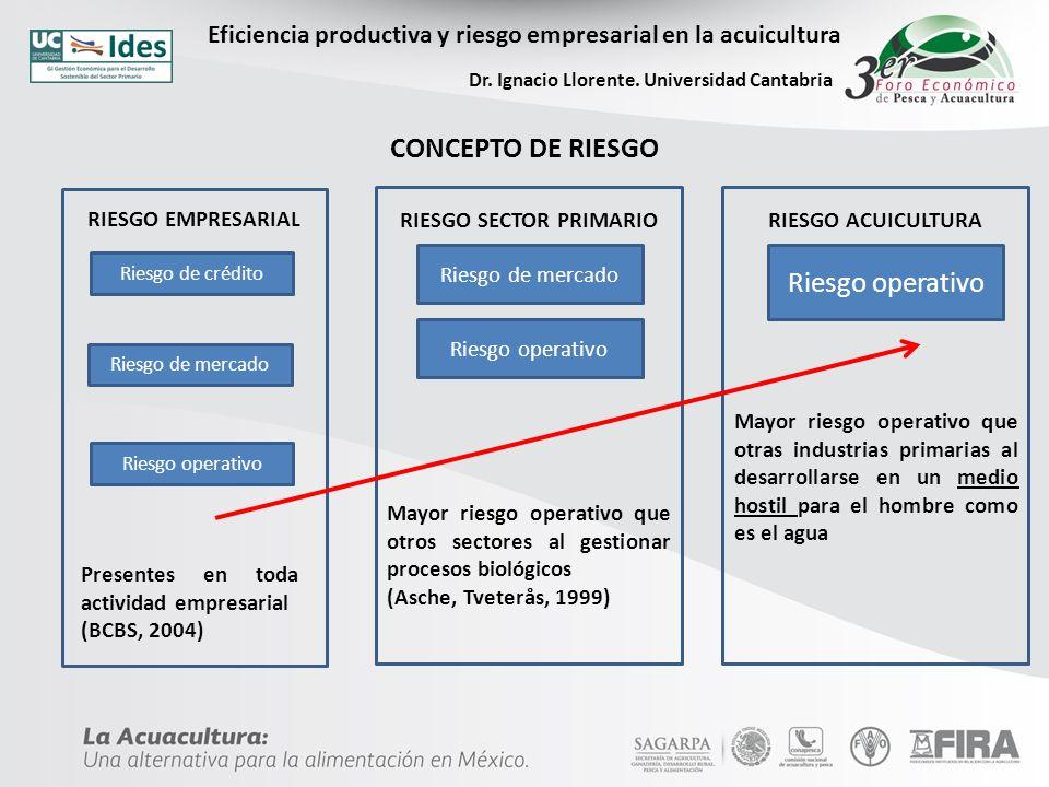 CONCEPTO DE RIESGO Riesgo operativo