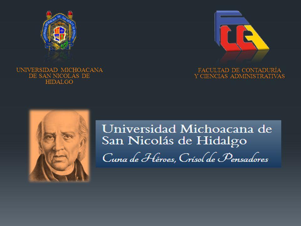 FACULTAD DE CONTADURÍA Y CIENCIAS ADMINISTRATIVAS