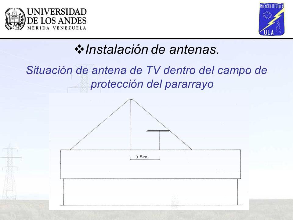 Instalación de antenas.