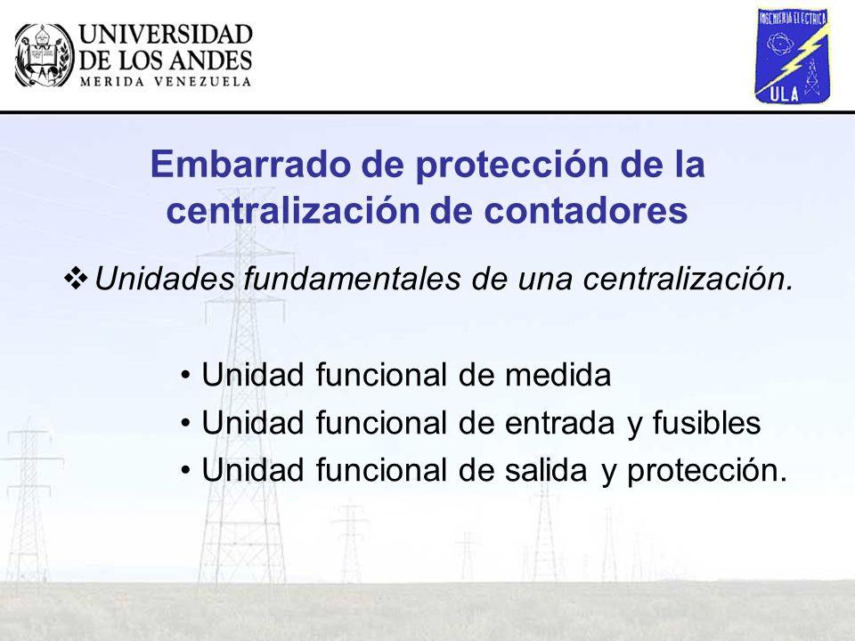 Embarrado de protección de la centralización de contadores