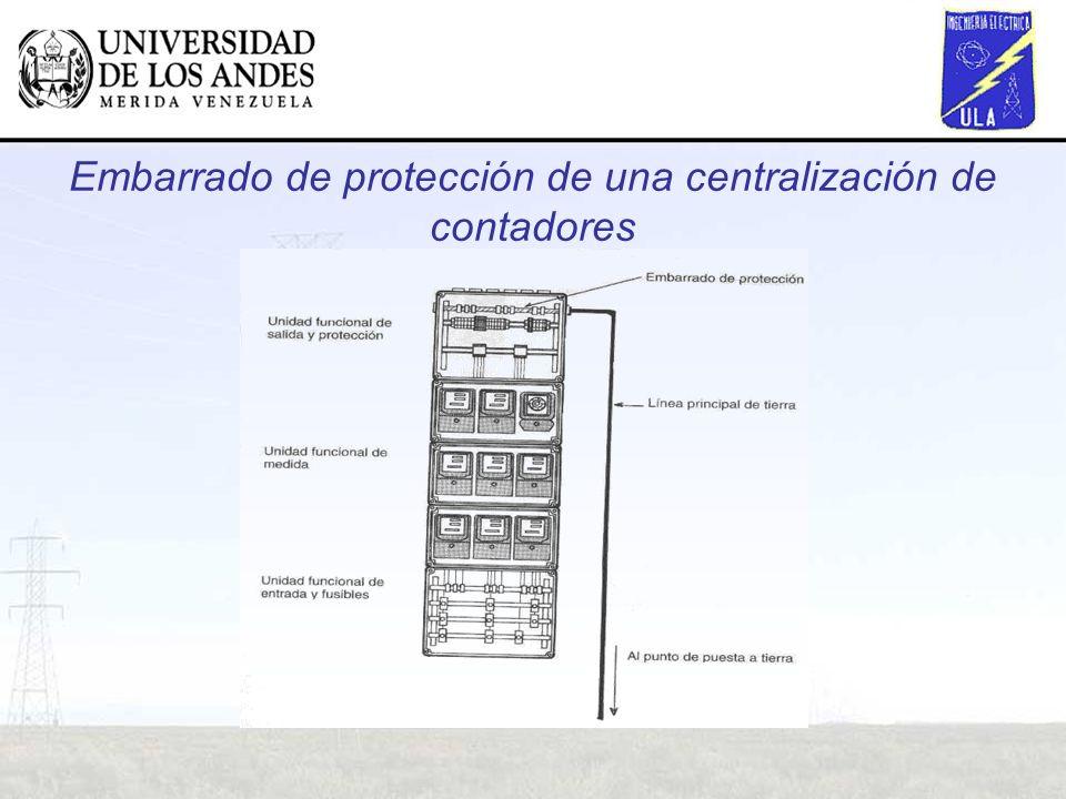 Embarrado de protección de una centralización de contadores