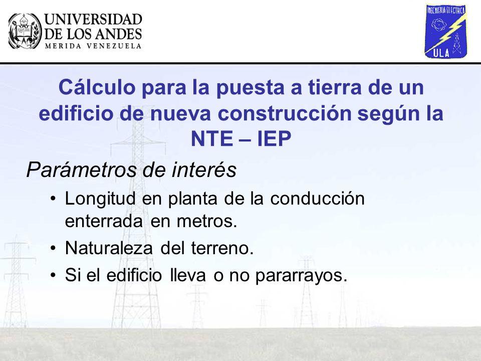 Cálculo para la puesta a tierra de un edificio de nueva construcción según la NTE – IEP
