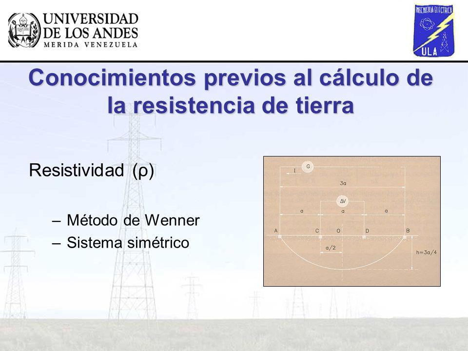 Conocimientos previos al cálculo de la resistencia de tierra