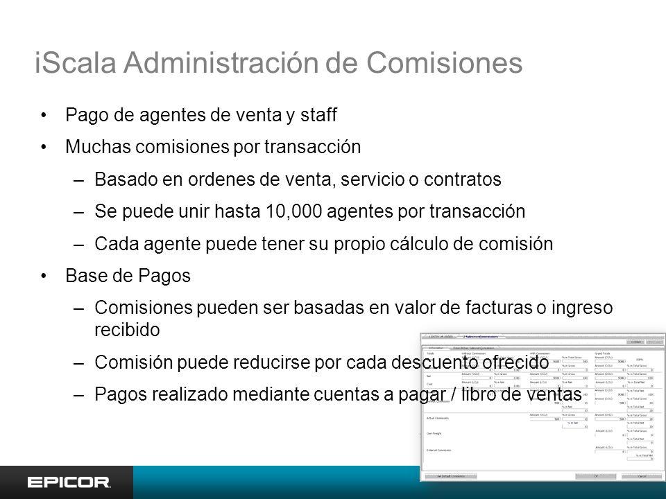 iScala Administración de Comisiones