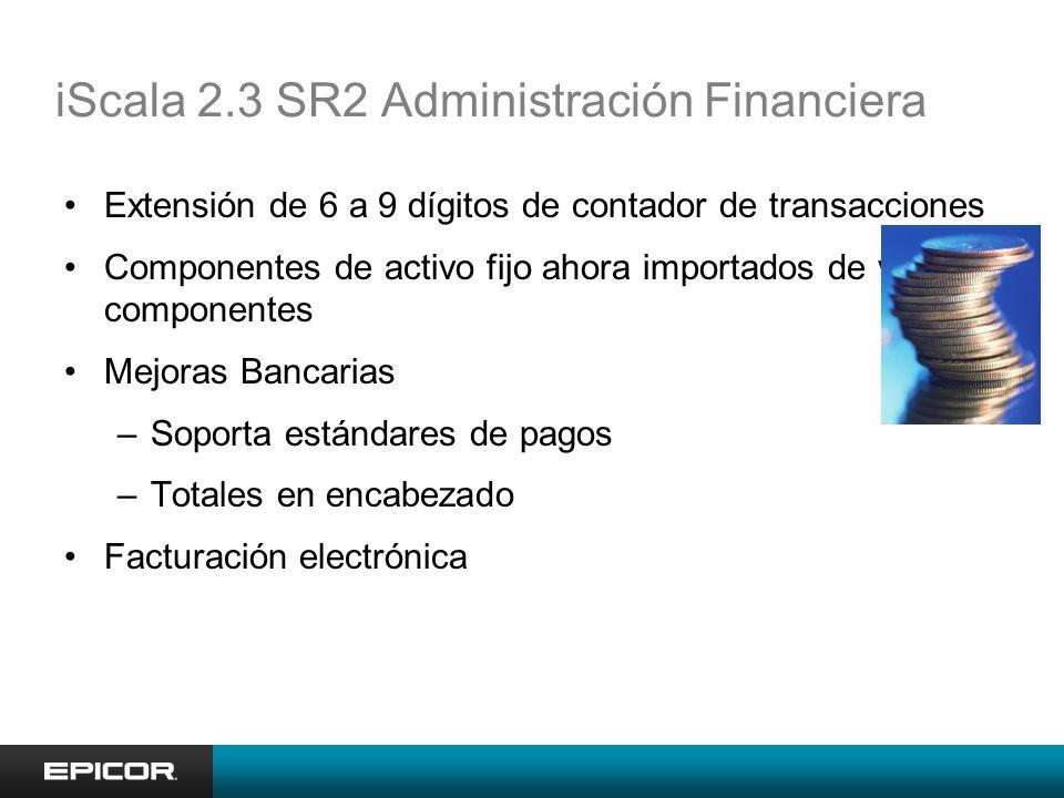 iScala 2.3 SR2 Administración Financiera