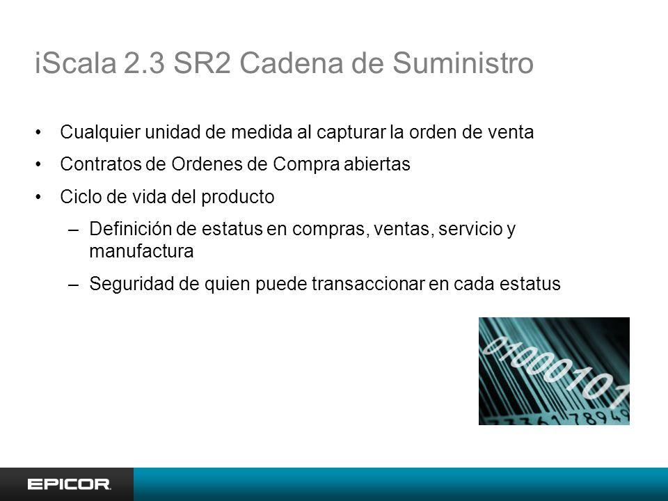 iScala 2.3 SR2 Cadena de Suministro