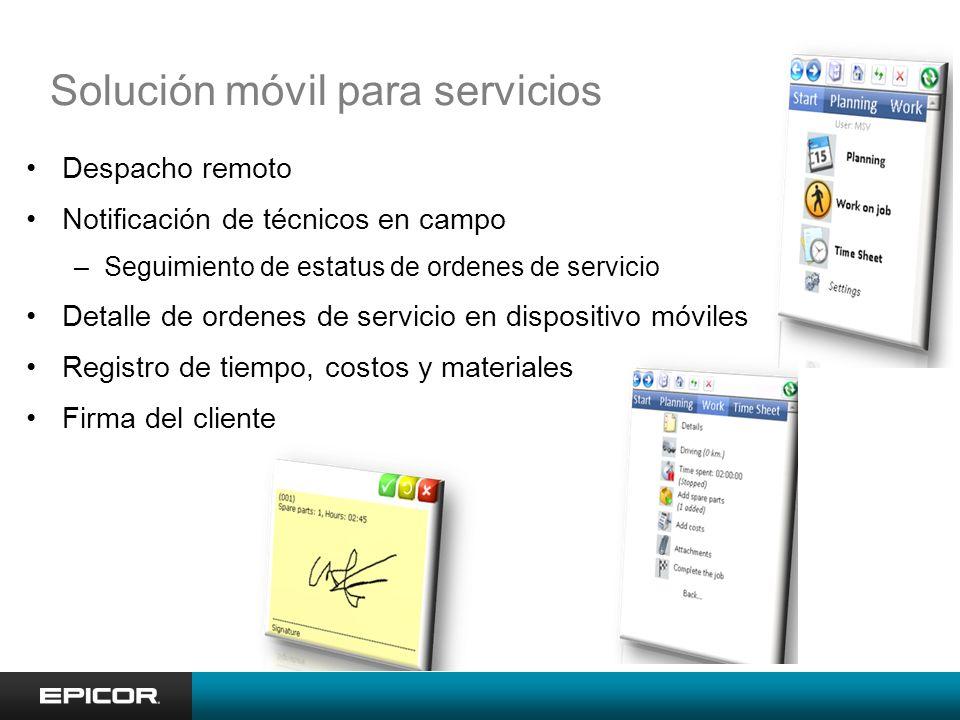 Solución móvil para servicios