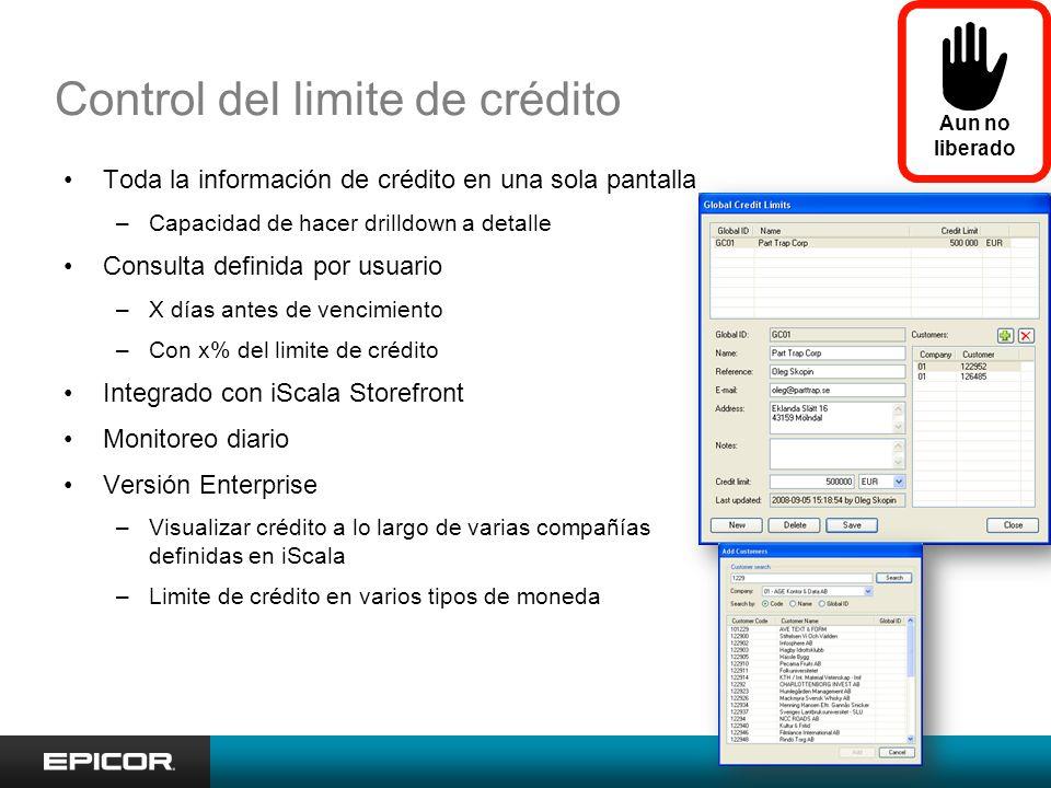 Control del limite de crédito