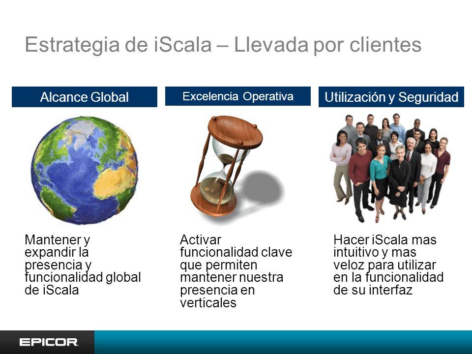 Estrategia de iScala – Llevada por clientes