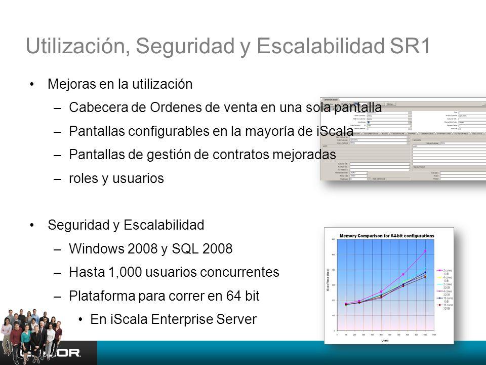 Utilización, Seguridad y Escalabilidad SR1