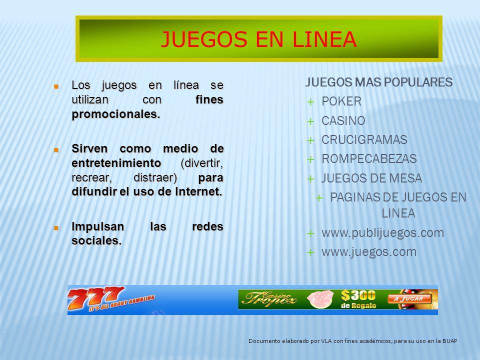 PAGINAS DE JUEGOS EN LINEA