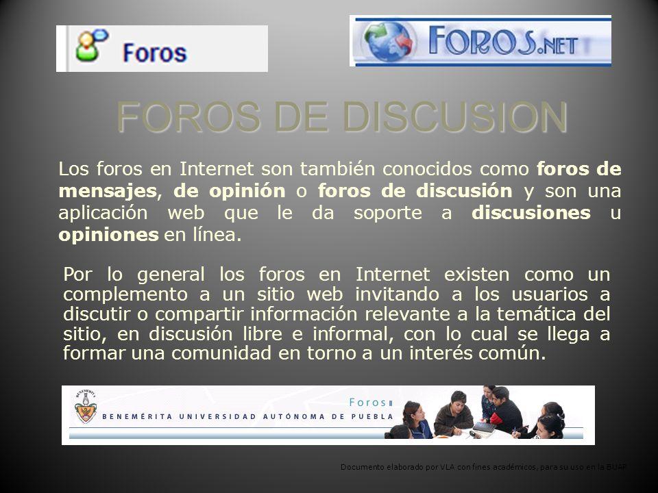 FOROS DE DISCUSION