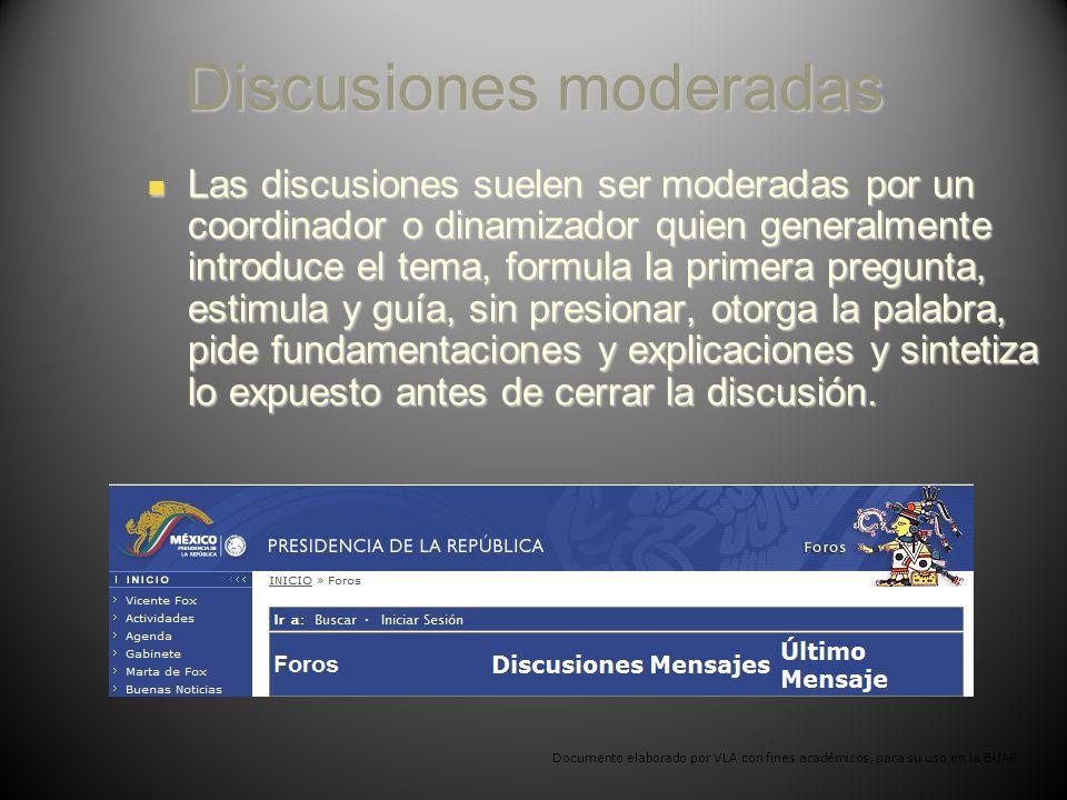 Discusiones moderadas