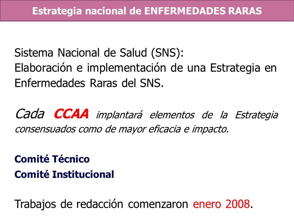 Estrategia nacional de ENFERMEDADES RARAS