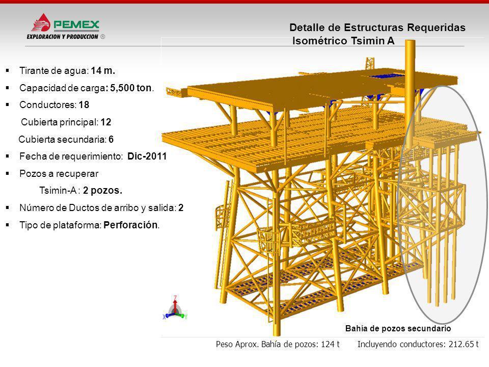 Detalle de Estructuras Requeridas Isométrico Tsimin A