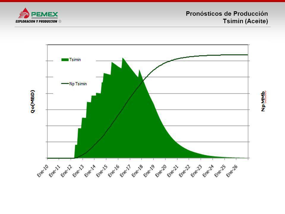 Pronósticos de Producción Tsimin (Aceite)