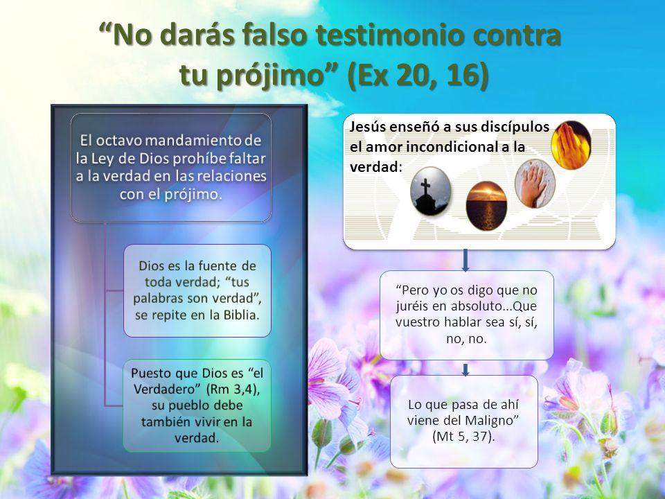 No darás falso testimonio contra tu prójimo (Ex 20, 16)