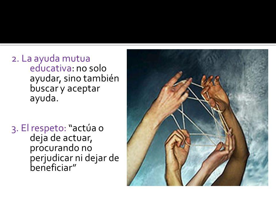 2. La ayuda mutua educativa: no solo ayudar, sino también buscar y aceptar ayuda.