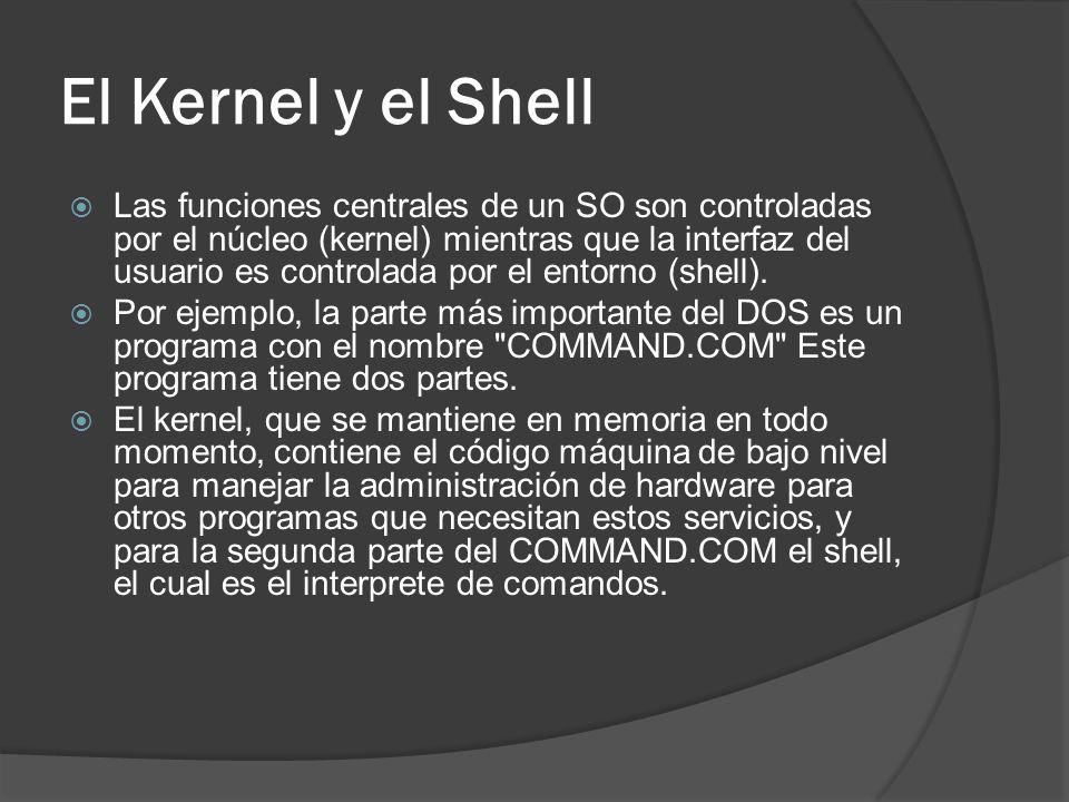 El Kernel y el Shell