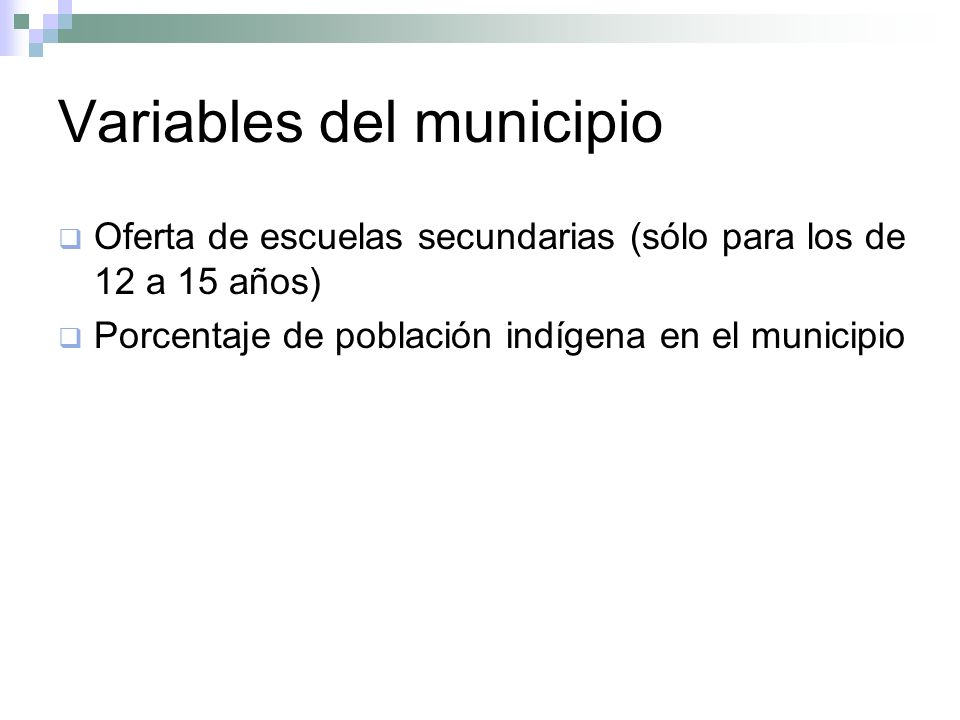 Variables del municipio