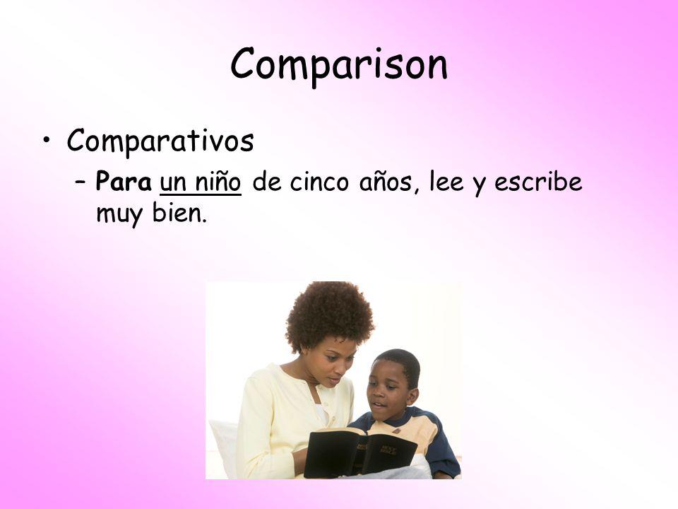 Comparison Comparativos
