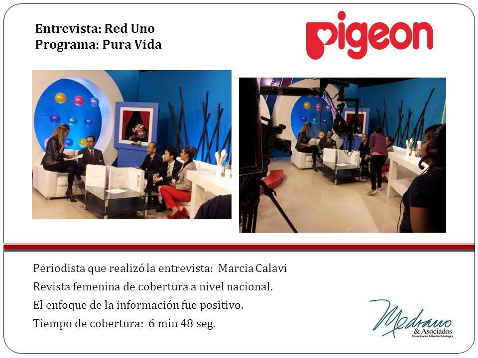 Entrevista: Red Uno Programa: Pura Vida