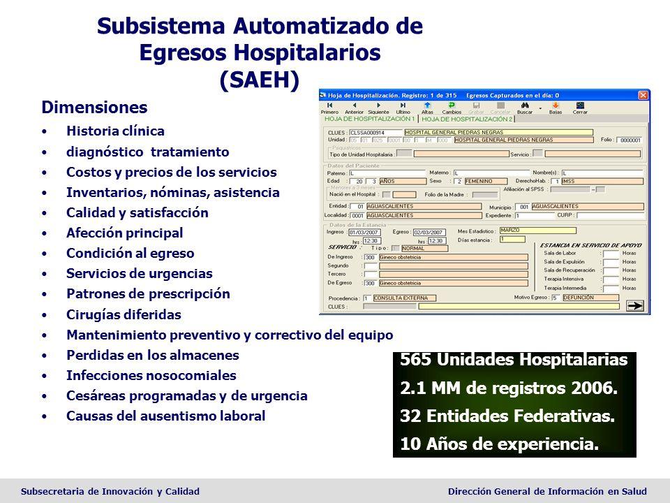 Subsistema Automatizado de Egresos Hospitalarios (SAEH)