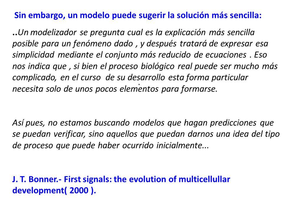 Sin embargo, un modelo puede sugerir la solución más sencilla: