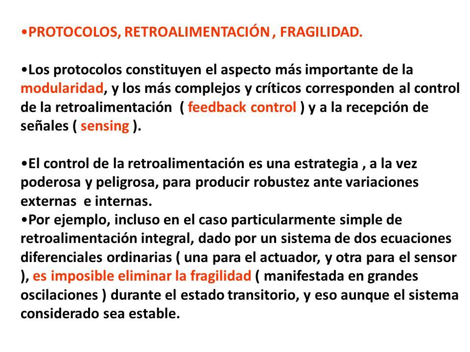 PROTOCOLOS, RETROALIMENTACIÓN , FRAGILIDAD.