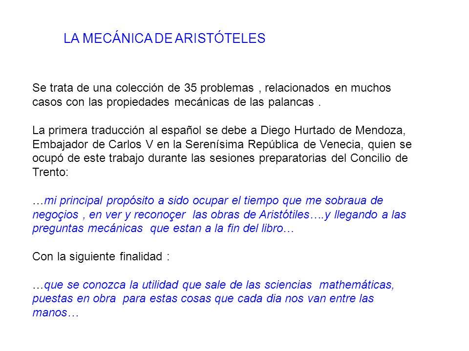 LA MECÁNICA DE ARISTÓTELES